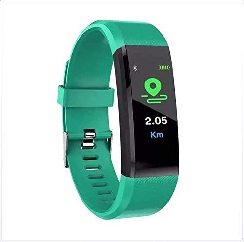 hwbq Reloj inteligente Ip67 impermeable pantalla a color pulsera inteligente dinámica en tiempo real monitor de ritmo cardíaco deporte impermeable reloj y cronómetro rojo y verde