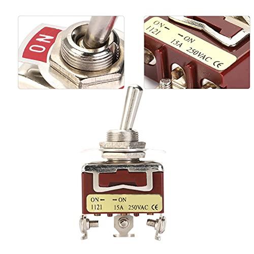 Interruptor de palanca SPDT de 2 posiciones Interruptor de palanca de 5 piezas Interruptor de palanca ON-ON fácil de montar de 3 pines Componentes electrónicos para automóviles /
