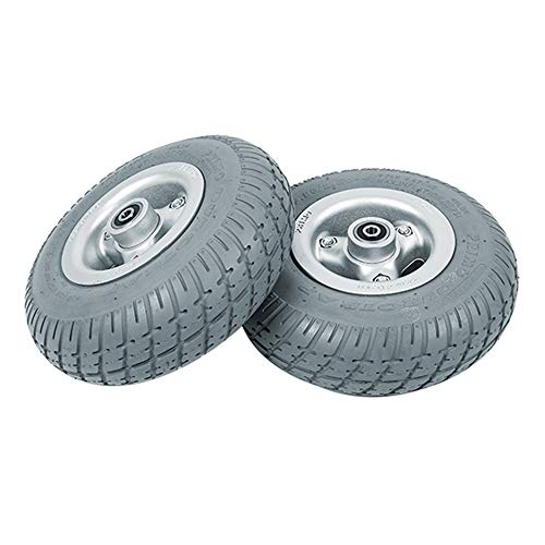 Neumático Delantero pequeño de 9 Pulgadas Neumático de Goma PU Llenar la Silla de Ruedas eléctrica de corazón sólido Neumáticos Ultra Gruesos convencionales de 80 MM 🔥