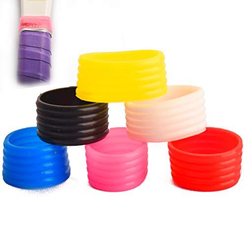 seaner Paquete de 6 anillos de agarre para raqueta de bádminton, raqueta de tenis, raqueta de raqueta, protector de sobreagarre, mezcla de 6 colores (CA)