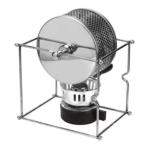 Tostador de granos de café manual, Mini manual de acero inoxidable Máquina de tostado de granos de café para el hogar Tostador de café casero con mango