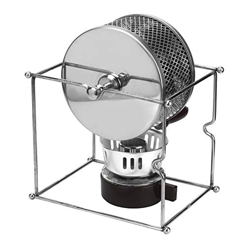 Kaffeebohnen-Röstmaschine, DIY-Kaffeeröster mit Griff Mini Manual Edelstahl Haushalt