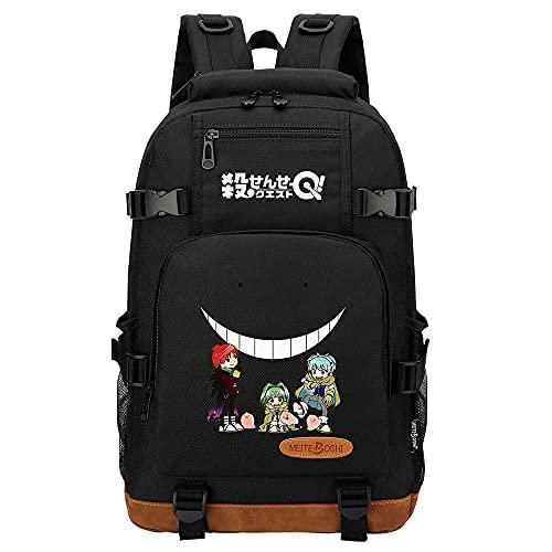 Zaino Anime Assassination Classroom Teen Student School Bag Black,giapponesi borse da scuola zaini casual, zaino unisex adulto