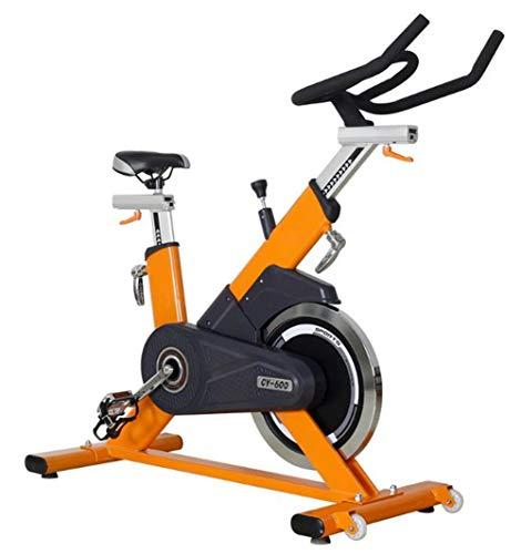 Lcyy-Bike Indoor Ciclismo Formatori di Bicicletta Commerciale Infinite Resistance 20 kg Volano Cardio Workout Regolabile Manubrio E Altezza del Sedile per Uomo/Donna Gialla