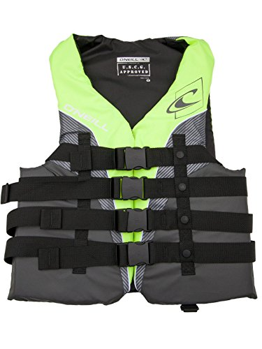 Fantastic Deal! O'Neill Mens Superlite USCG Life Vest XXXL Lime/Graphite/Smoke/White (4723)