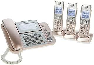 Panasonic KXTGF353G2 Dect 3-Handset Landline Telephone (Renewed) (KX-TGF353N Rose Gold)