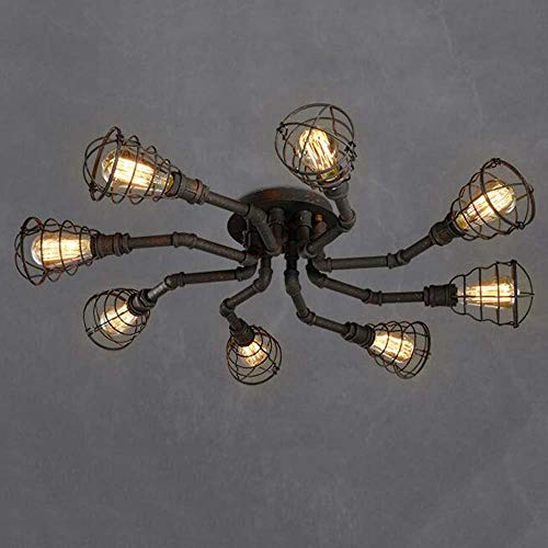 Plafondlamp - Loft American Retro industrie wind zuiverheid creatieve ijzeren buizen plafondlamp bar woonkamer eetkamer plafondlamp (kleur naar keuze) - Startside warme plafond (kleur: D)