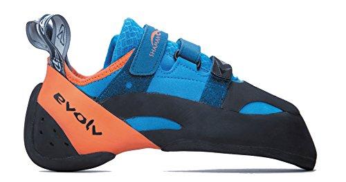 Evolv Herren Shaman Kletterschuh, Blau/Orange, 8 US / 41 EUR
