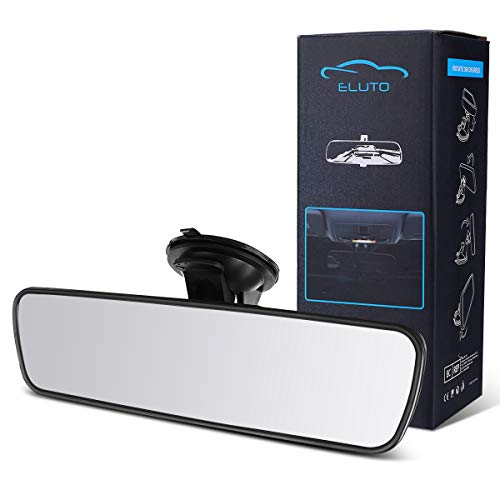 ELUTO Rear View Mirror Anti-glare Mirror Universal Interior RearView Mirror with Suction Cup for Car Truck SUV 9.5''(240mm)