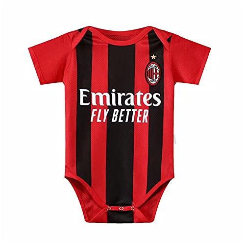 Body de fútbol para bebés de 6 a 18 meses, camiseta de temporada para bebés y niños pequeños (6 a 12 meses, AC Milan)