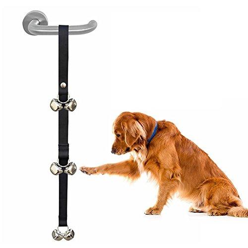 MiLuck cane toilette formazione campanello regolabile cucciolo doorbells con campane forti per House training per i cani di piccoli, medi e grandi