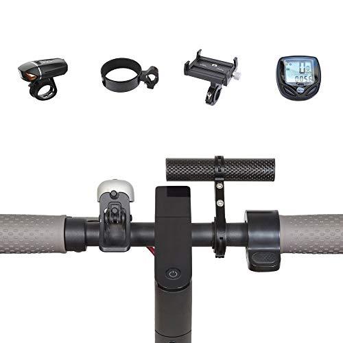Atuka manubrio prolunga bicicletta barra di prolunga in lega di alluminio supporto staffa salvaspazio Fibra di carbonio per XIAOMI M365, supporto di montaggio prolunga Ninebot ES1 ES2 singolo morsetto
