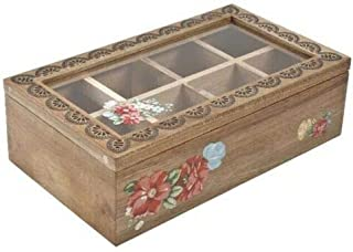 The Pioneer Woman Vintage Floral 8-Compartment Spice/Tea Box