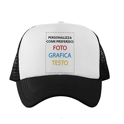 CHEMAGLIETTE! Cappellino Personalizzato Stampa Il Tuo Berretto Trucker Personalizzabile Custom