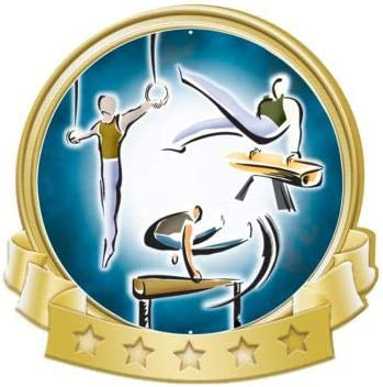 Crown Awards Gymnastics Male Banner Super popular specialty store Pins Don't miss the campaign Pin Gold Gym Prime