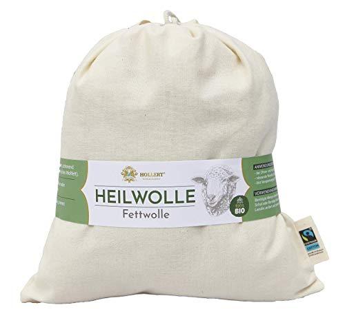 Bio Heilwolle Fettwolle 100g Schafwolle Rohwolle Wollfett Lanolin 100% Natur Hilfe bei Ohren- und Halsschmerzen Baby- und Hautpflege Rheuma Muskelschmerzen