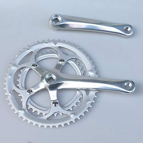 LYHMHZ Cranksets for Bikes 110BCD Road Bike Crank 53T 39T Chainwheel 5 Nail Square Hole Folding Bicycle Crankset 110 BCD 170mm Crank Arms 9/10 speed BMX (Color : Crankset)