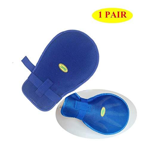 WJGJ Kontrollhandschuhe, Handfinger-Kontrollhandschuhe, Handkratzschutzhandschuhe for Patienten-Sicherheitsrückhaltehandgeräte, 1 Paar