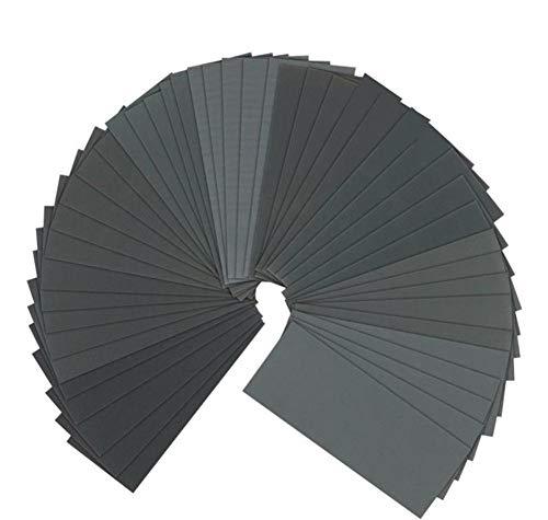 Sandpaper, 400 to 3000 Girt 90 Pcs Sand Paper Assortment Wet Dry Abrasive Variety Pack Sanding Paper Sheets for Wood Automotive Car Metal Plastic Glass Polishing Finishing