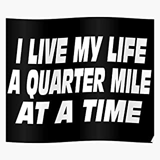 kineticards Walker The My 5 Quarter Time 3 Quote Mile I at Paul A Quotes Fast Furious 4 and Life Live   Home Decor Wall Ar...