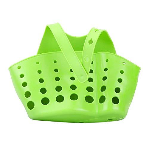 wastafel plank zeep spons afvoer rack badkamer houder keuken opslag zuignap keuken organizer wastafel keuken accessoires wassen Groen