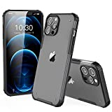 ZILLKO by I STRIVE Compatible with iPhone 12 Case/ 12 Pro Case - Phone Armor - Matte Translucent - Shockproof - Slim - Hybrid - Wireless Charging - Designed for iPhone 12 & 12 Pro (6.1 inch) - Black