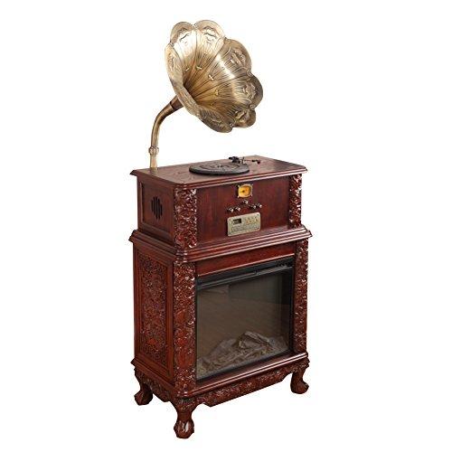 Sitang Gramófono antiguo retro gran cuerno lp gramófono tocadiscos del fonógrafo de la vendimia MLG6688C