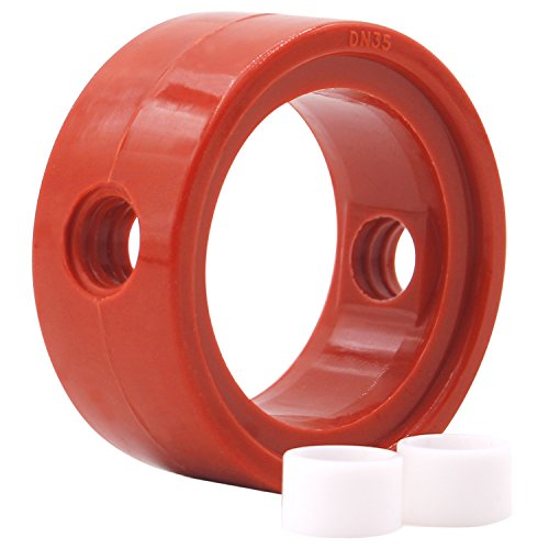 DERNORD Sanitary Butterfly Valve Repair Kit, Silicone Seat w/ (2) Bushings - for 1-1/2
