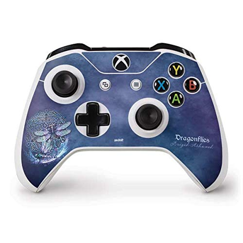 Skinit Decal Gaming Skin Compatible with Xbox One S Controller - Officially Licensed Tate and Co. Dragonfly Celtic Knot Design