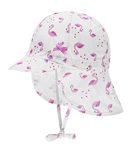 Döll Baby-Mädchen Bindemütze mit Schirm und Nackenschutz Mütze, Rosa (Fuchsia Pink|Pink 2023), (Herstellergröße: 49)