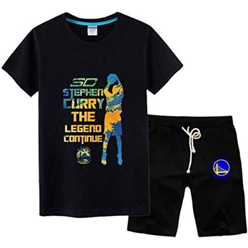LLSDLS Camiseta de la NBA Traje Golden State Warriors Stephen Curry # 30 Jersey Sports Camiseta de Manga Corta Hombre Baloncesto Loose Sports Suit Camiseta (Color : Black#3, Size : S)
