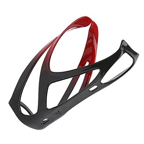 Liyeehao Portabotellas para Bicicleta, portabidón de Fibra de Carbono y Fibra de Nailon para Bicicleta de Carretera para Bicicleta de montaña(Black Red)