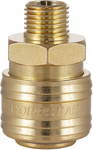 Poppstar Attacco Rapido per Aria Compressa DN 7,2 con Filettatura Esterna da 1/4 Pollice