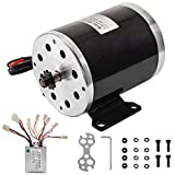 BestEquip 500W 24V Brushed Motor with Speed Controller 2500RPM 26.7A Electric Go Kart Motor BY1020D Electric Scooter Motor Kit for Mini Bike DIY