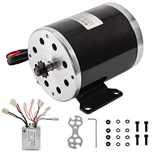 BestEquip 500W 24V Brushed Motor, with Drive Speed Controller 2500RPM 26.7A, Electric Go Kart Motor...
