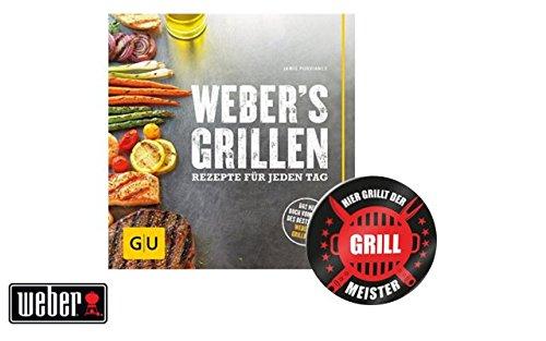 """Preisvergleich Produktbild Weber Grillbuch / Weber's Grillen: Rezepte für jeden Tag + """"Grillmeister"""" Sticker by Collectix"""