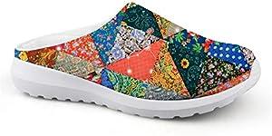 SANNOVO Fashion Mesh Sandals Non Slip Beach Water Garden Bathroom Shoe for Ladies