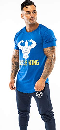 Muscle King Gym mens clothes for gym | bodybuilding clothing for men | t shirts, running tops for men, gym top for men-muscle fit t shirt for men