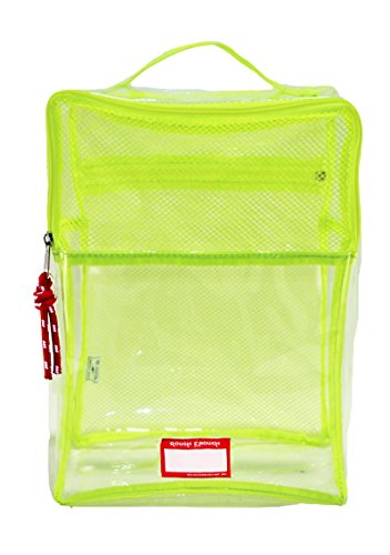 Rough Enough Clear Travel Organiser Storage Bag Packing Cubes for Shoes Suitcase Luggage Closet with Zip Mesh Compartment Handle for Mens Women Teens Boys Girls Sports Outdoors Beach Swimming Trip