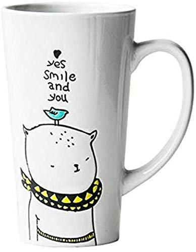 LJXLXY Mok melk melk thee koffie kopje kopje gift office kopje ontbijt kopje high-legged paar thuis gele sjaal 500ml