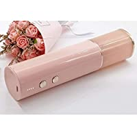 ミニ自動ワインボトルオープナースクリュードライバー電気ボトルオープナーステンレス鋼 (Color : Pink)