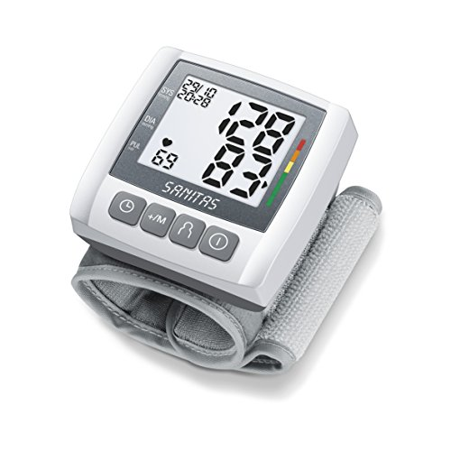 Sanitas SBC 21 Handgelenk-Blutdruckmessgerät (Grau, Vollautomatische Blutdruck- und Pulsmessung am Handgelenk)