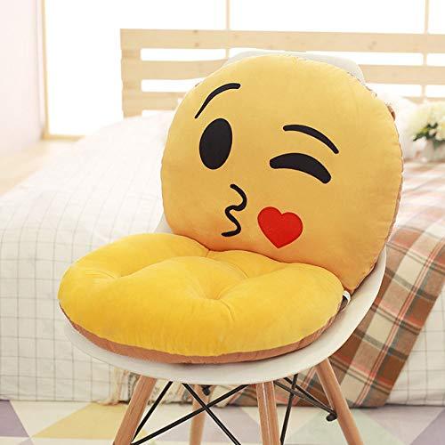 FKIHK SitzkissenNette Emoji Stuhlkissen Emoji Dekorative Kissen Kissen Wohnkultur Abnehmbare Sitzkissen Verdicken Multifunktionsboden, 2 fei Wen
