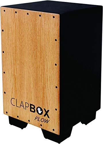 Clapbox Cajon CB02 Flow -Black, Oak Wood (H:50 W:30 L:30) - 3 Internal Snares