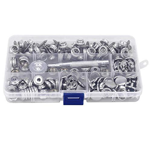 Naaien 150 stuks/set RVS Snap Button Boot Sailcloth Canvas Snap Allen schroef kit met gereedschap in te stellen