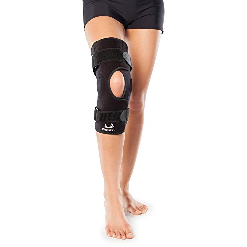 Wraparound Hinged Knee Brace - Front Closure Hinged Knee Brace for ACL, MCL, Meniscus & General Knee Pain - by BioSkin (XL)
