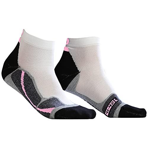 MONNET Run Force Chaussettes, Blanc Rose, 3536 Femme