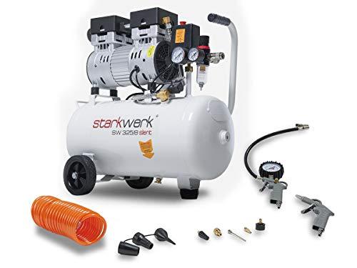 Preisvergleich Produktbild 750 Watt !69db! 8 Bar ölfrei Flüsterkompressor Druckluftkompressor Silent Compressor leise Starkwerk SW 325 / 08