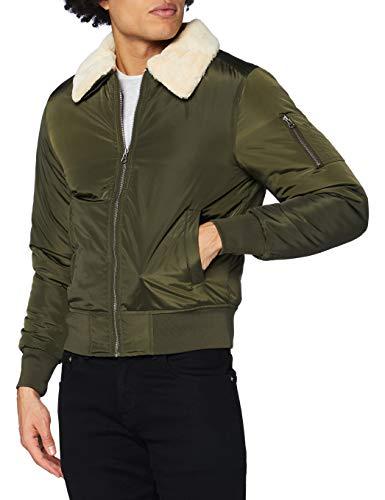 Urban Classics Pilot Bomber Jacket Chaqueta, Verde (Olive), Medium para Hombre