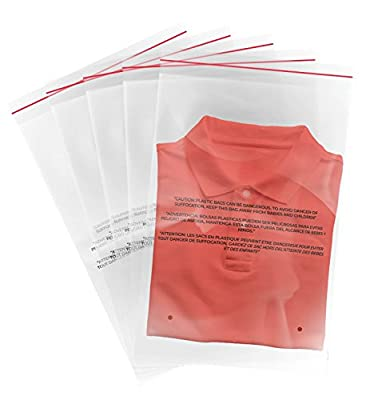 "100 (12""x18"") Clear Peel and Seal 1.5 Mil Poly Bags with Suffocation Warning Print"